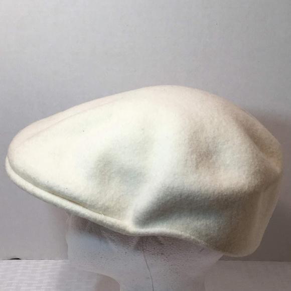White  KANGOL  Wool  504  Ivy  Cap